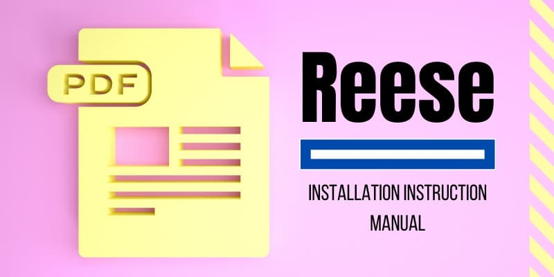 Installation Instructions for Reese