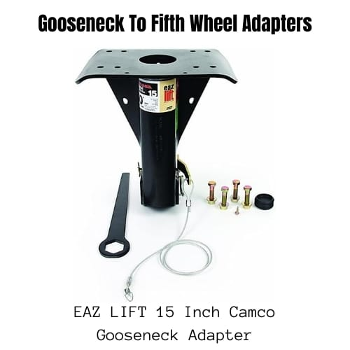 Gooseneck To Fifth Wheel Adapters - EAZ LIFT 15 Inch Camco Gooseneck Adapter