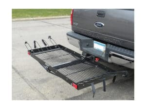 Cargo Carrier with Bike Rack by Tow Tuff